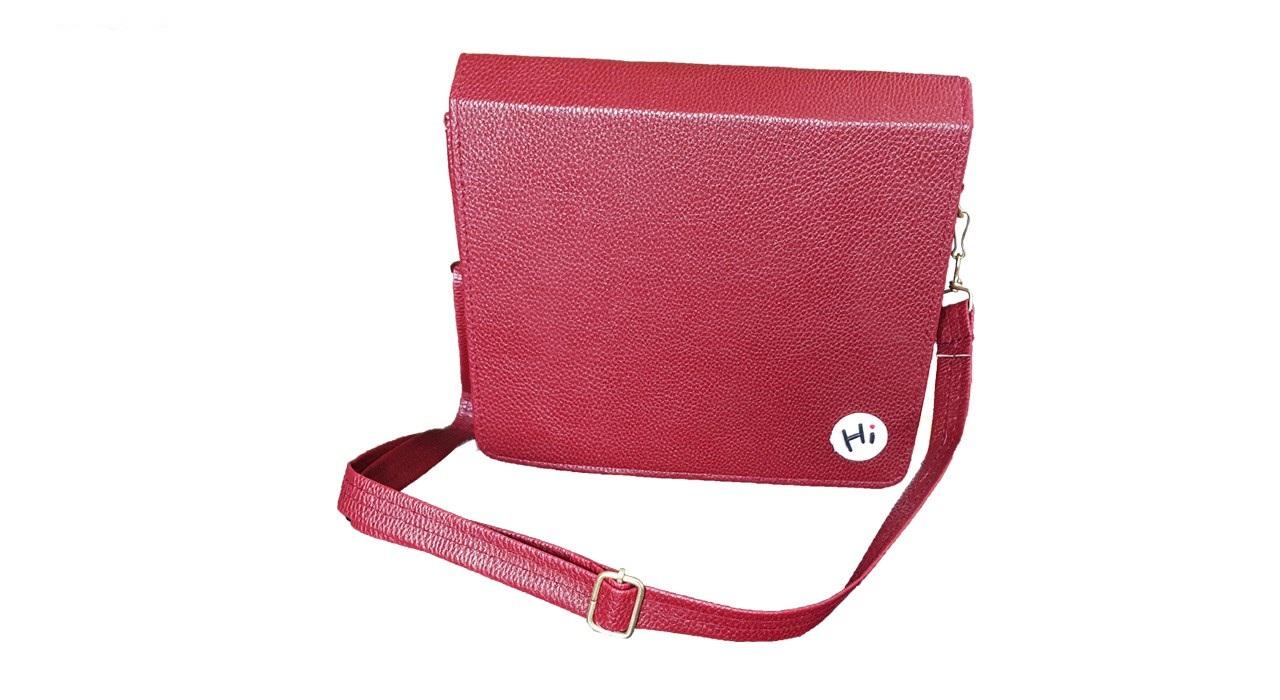 کیف زنانه قرمز طرح Hi