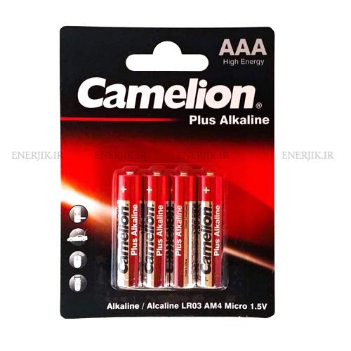 باتری آلکالین نیم قلمی پلاس4تایی کملیون