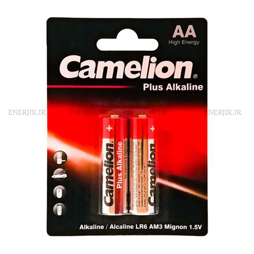 باتری آلکالین قلمی پلاس 2تایی کملیون