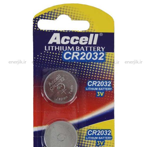 باتری سکه ای ورق5عددی2032 Accell