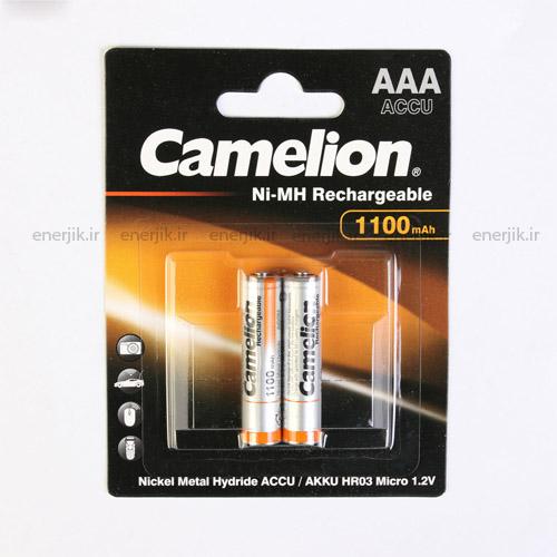 باتری شارژی نیم قلم1100میلی آمپر کملیون