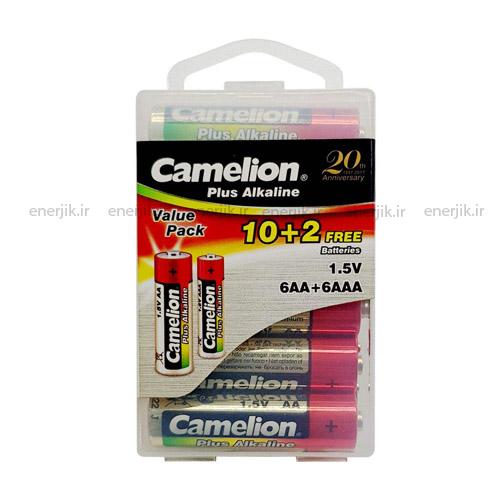 باتری آلکالین قلم و نیم قلمی پلاس12تایی کملیون