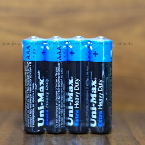 باتری معمولی نیم قلم شیرینگ4تایی یونی مکس
