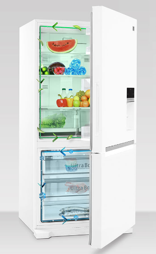 یخچال و فریزر پایین دوو ، اولتیمو سفید براق مدل D4BF-0028GW