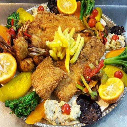 سینی ویژه دریایی (ماهی شیر، میگو و قزل آلا)