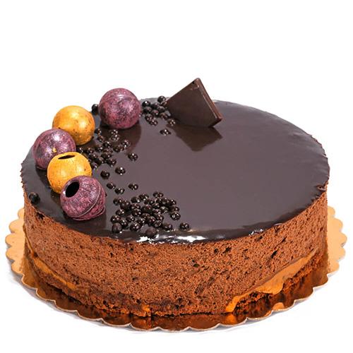 کیک شکلاتی موکا با دورکش قهوه<