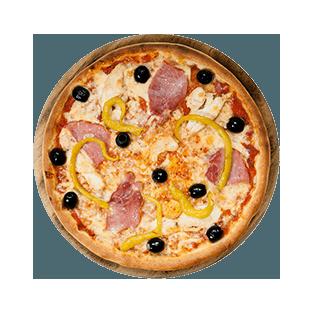 پیتزا مرغ و بیکن