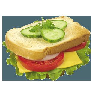 تست سبزیجات و پنیر چدار<