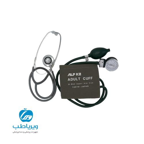 فشارسنج عقربه ای ALPK2 V500 به همراه گوشی طبی FT-801 (اصل ژاپن)