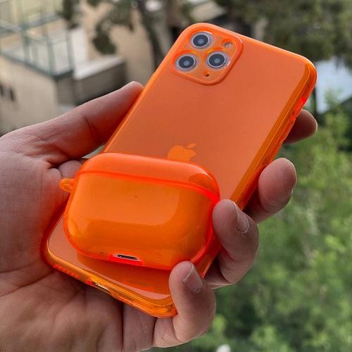 قاب ژله ای شبرنگی نارنجی