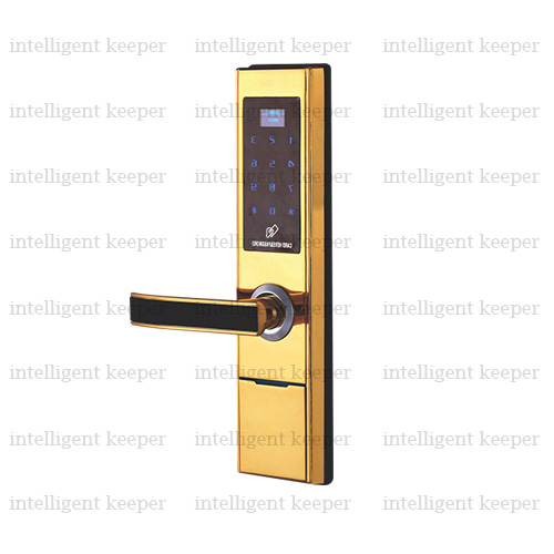 قفل آپارتمانی مدرن چپ طلایی IK 3121