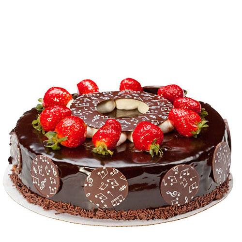 کیک کاکائویی با روکش شکلات